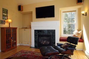 Television Over the Fireplace